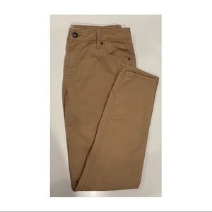 Womens Country Road tan cotton pants 7/8 size 8